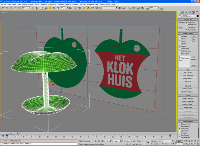 3D layout in 3DS Max