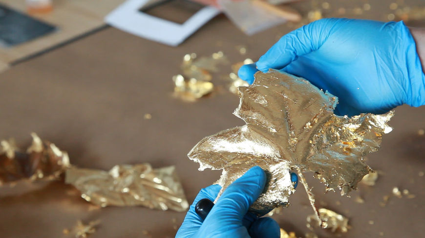 IMAGE: Photo – BTS gold leaf process