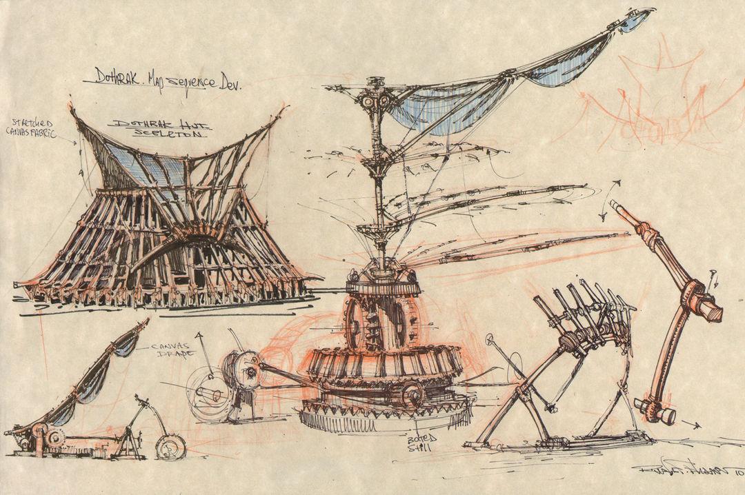 Vaes Dothrak concept sketch