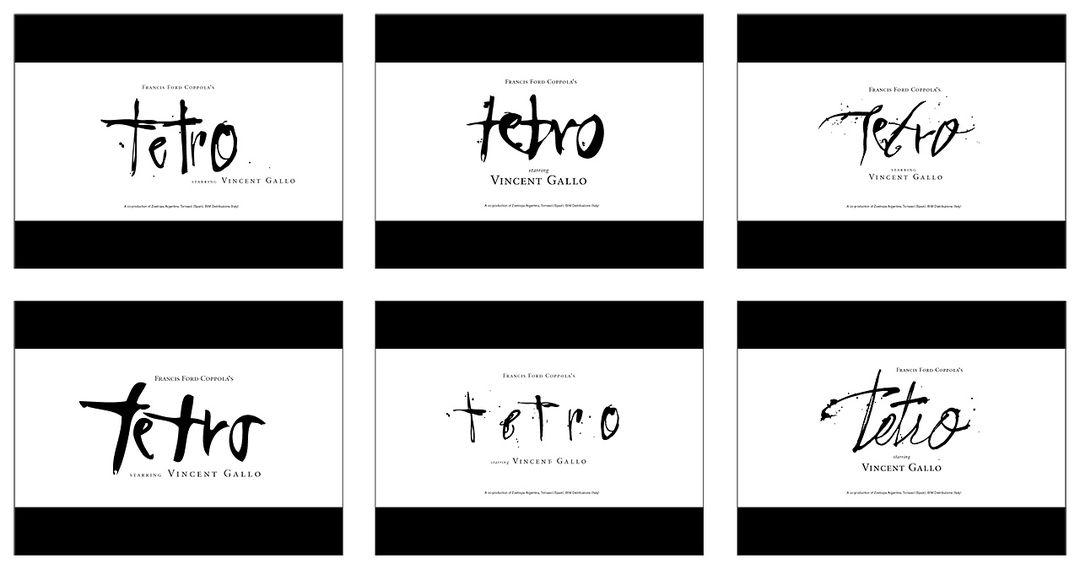 Tetro - Logo variations