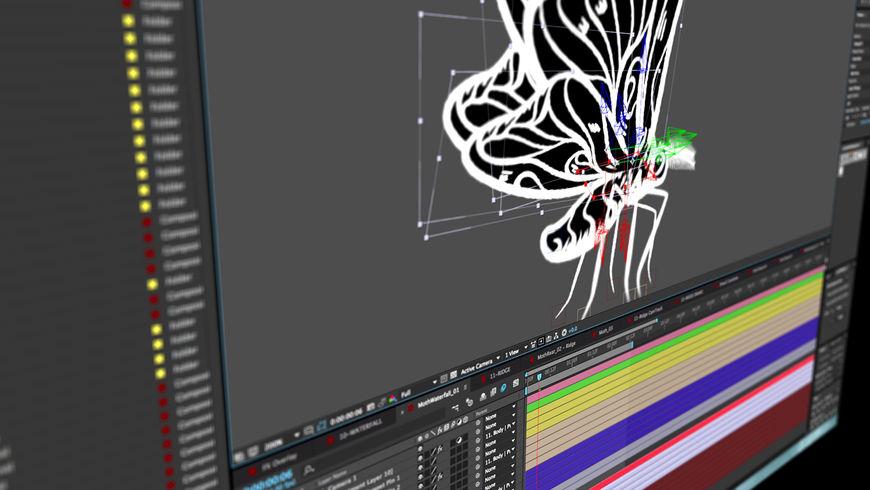 IMAGE: Screenshot –moth being animated