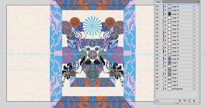 IMAGE: Illustrator screenshot –poster backgrounds and elements