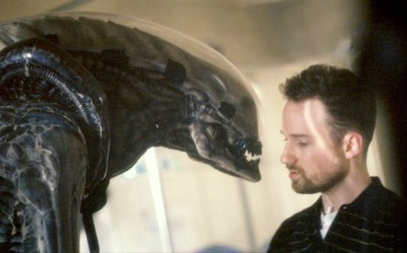 David Fincher on the set of Alien