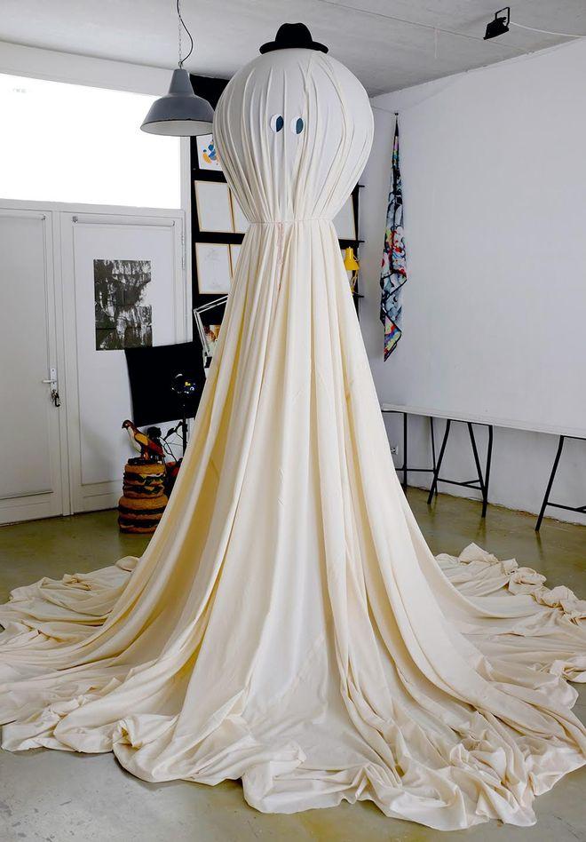 IMAGE: Ghost figure sculpture