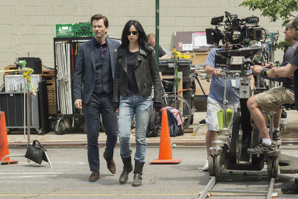 IMAGE: David Tennant and Krysten Ritter