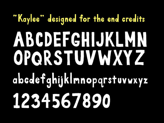 Kaylee typeface example