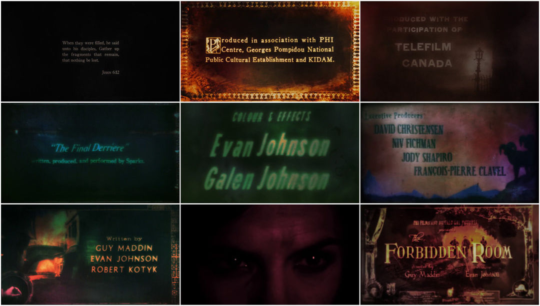 VIDEO: Title Sequence – The Forbidden Room