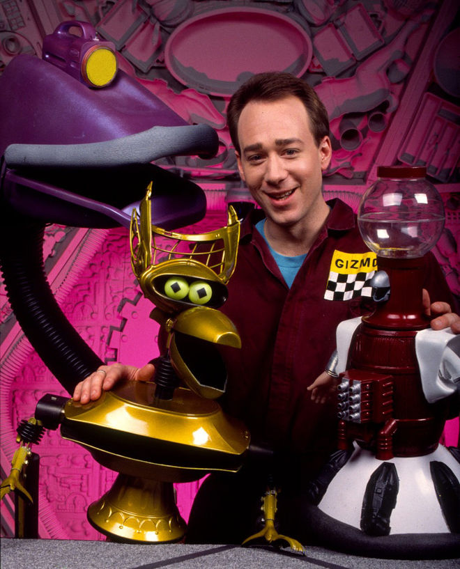 MST3K creator Joel Hodgson with the robots