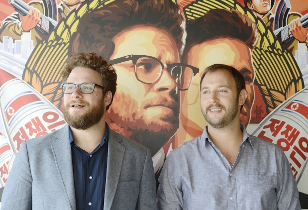 Image: The Interview writer/directors Seth Rogen and Evan Goldberg