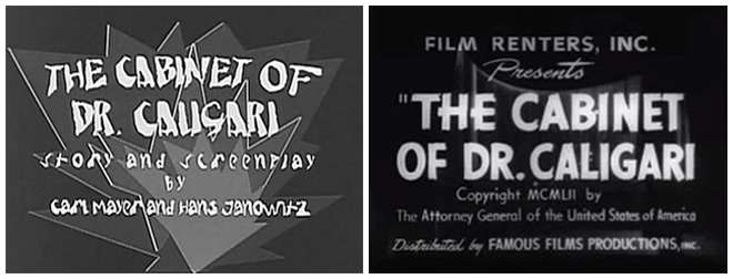 IMAGE: Caligari title card examples